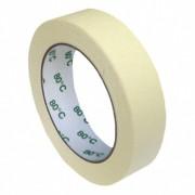 Kreppband Kreppklebeband Montageband PLUS, bis 80° C beige, 25mm x 50m