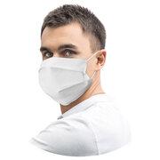 Mundschutz Mundmaske 18 x 9,5 cm aus Airlaid stoffähnlich weiß, 20 Stk.