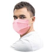 Mundschutz Mundmaske 18 x 9,5 cm aus Airlaid stoffähnlich rosa, 20 Stk.