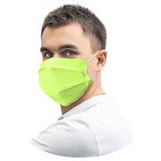 Mundschutz Mundmaske 18 x 9,5 cm aus Airlaid stoffähnlich gelbgrün, 20 Stk.
