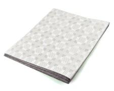 Damasttischdecke Tischtuch aus Papier, gefaltet 180 x 120 cm weiß
