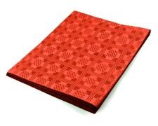 Damasttischdecke Tischtuch aus Papier, gefaltet 180 x 120 cm rot