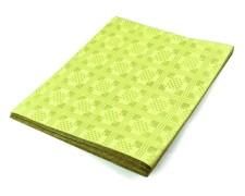 Damasttischdecke Tischtuch aus Papier, gefaltet 180 x 120 cm gelb