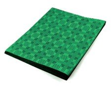 Damasttischdecke Tischtuch aus Papier, gefaltet 180 x 120 cm dunkelgrün