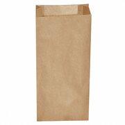 Papierfaltenbeutel Papiertüten braun 20+7 x 43 cm für ca. 5 kg Inhalt, 500 Stk.