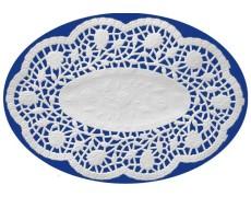 Deko-Spitzen oval, weiß, 32 x 22 cm, 100 Stk.