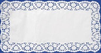 Deko-Tortenspitzen eckig, weiß, 18 x 30 cm, 100 Stk.