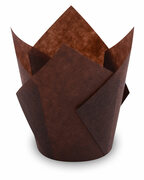 Muffin-Tulip-Wraps, dunkelbraun, 160x160 mm, 100 Stk.