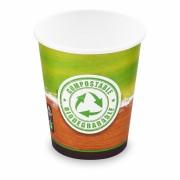 BIO Kartonbecher Kaffeebecher CoffeeToGo Kompostierbar PLA 200ml 280ml, 50 Stk.