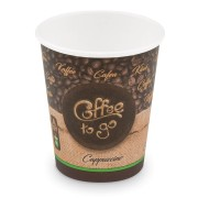 Kaffeebecher M 'Coffee To Go' Cappuccino Caffe Lungo 200ml 280ml,  50 Stk.