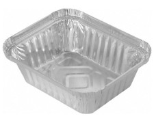 Alu-Servierschale Aluschale Grillschale  470ml, 145x120x41mm,  10 Stk.