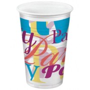 Party-Trinkbecher 200ml,  bunt - Design PARTYTIME, 10 Stk.