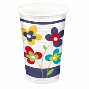 Party-Trinkbecher 200ml,  bunt - Design Summer Flowers, 10 Stk.