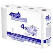 Küchenrollen Harmony Professional 3-lagig 50 Blatt FSC-zertifiziert, 4 Stk.