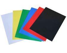 Rückwände / Deckblätter Chromo glossy, 250gr/m2, A4, blau,  25 Stk.