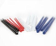 Plastikbinderücken 12mm, bis max. 95 Blatt, Blau, 25 Stk.