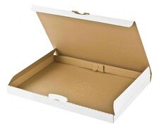 Maxibriefkarton DHL briefkastentauglich Höhe 3cm 340x250x30mm DIN A4/B4 weiß