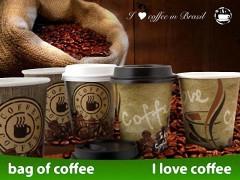 Kaffeebecher CofeToGo Pappbecher KAFFEEPAUSE 8oz 200 ml, 50 Stk.