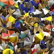 DECOFILL dekorative Papier-Verpackungschips Polsterchips, gemischt, 120 Liter