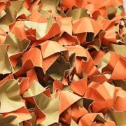 DECOFILL dekorative Papier-Verpackungschips Polsterchips, orange, 120 Liter