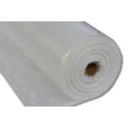 Gitterfolie, 90 g, transparent mit weissem Gitter, 1,50 x 100 m
