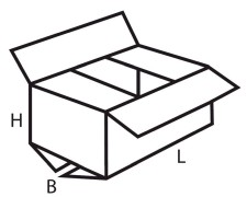 Faltkarton  350x290x130mm 1wellig, braun