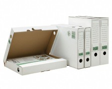 PG-PF_B03.20_020_1 ARCHIV-ABLAGEBOX zum Aufbewahren von Ordnerinhalten, Listen.. 265x75x324mm, weiß