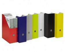progressFILE ZEITSCHRIFTENSAMMLER Zeitschriftenbox 105mm breit, weiß