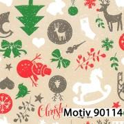Weihnachtsgeschenkpapier 50 cm x 200 m | Motiv 90114