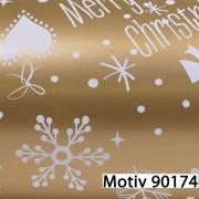 Weihnachtsgeschenkpapier Weihnachtspapier  30 cm x 200 m   Motiv 90174