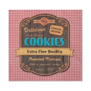 Motivservietten 3-lagig, 33 x 33 cm, Cookies, rot, 20 Stk.