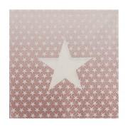Motivservietten 3-lagig, 33 x 33 cm, weisse Sterne, rosa Hintergrund, 20 Stk.