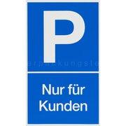 Gebotsschild blau Kundenparkplatz - 150x250mm
