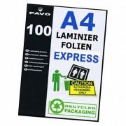 PAVO EXPRESS-Laminierfolien A4, 216 x 303mm, 2x 125 mic,  100 Stk.