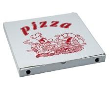 Pizzakarton aus Mikrowellpappe mit neutralem Motiv, 20 x 20 x 3 cm, 100 Stk.