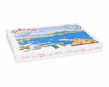 Pizzakarton aus Mikrowellpappe mit neutralem Motiv, 60 x 40 x 5 cm, 50 Stk.