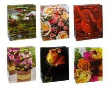 Premium Geschenktüten Präsenttüten groß ROSEN 320x260x135mm, 12 Stk.