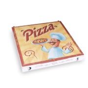 Pizzakarton aus Mikrowellpappe mit neutralem Motiv, 29,5 x 29,5 x 3 cm, 100 Stk.