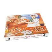 Pizzakarton aus Mikrowellpappe mit neutralem Motiv, 32,5 x 32,5 x 3 cm, 100 Stk.