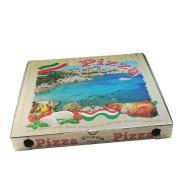 Pizzakarton aus Mikrowellpappe mit neutralem Motiv, 46 x 46 x 5 cm, 100 Stk.