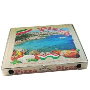 Pizzakarton aus Mikrowellpappe mit neutralem Motiv, 50 x 50 x 5 cm, 100 Stk.
