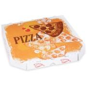 Pizzakarton aus Mikrowellpappe mit neutralem Motiv, 26 x 26 x 3 cm, 100 Stk.