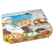 Pizzakarton aus Mikrowellpappe mit neutralem Motiv, 33 x 33 x 3 cm, 100 Stk.
