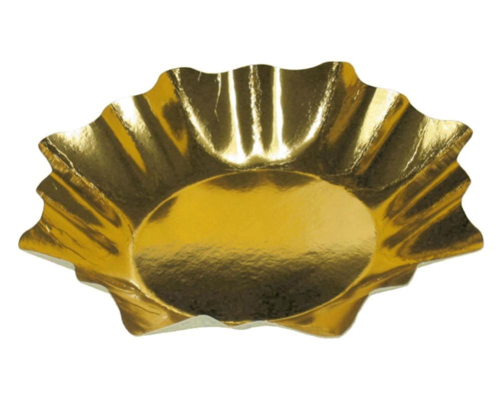 Pappteller sternf rmig gold 28 cm durchmesser 2 stk for Pappteller gold