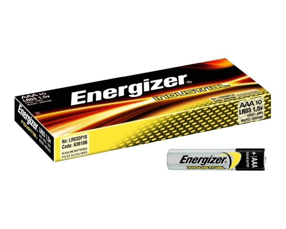 energizer industrial batterien lr03 aaa micro 1 5 volt spannung 10 stk. Black Bedroom Furniture Sets. Home Design Ideas