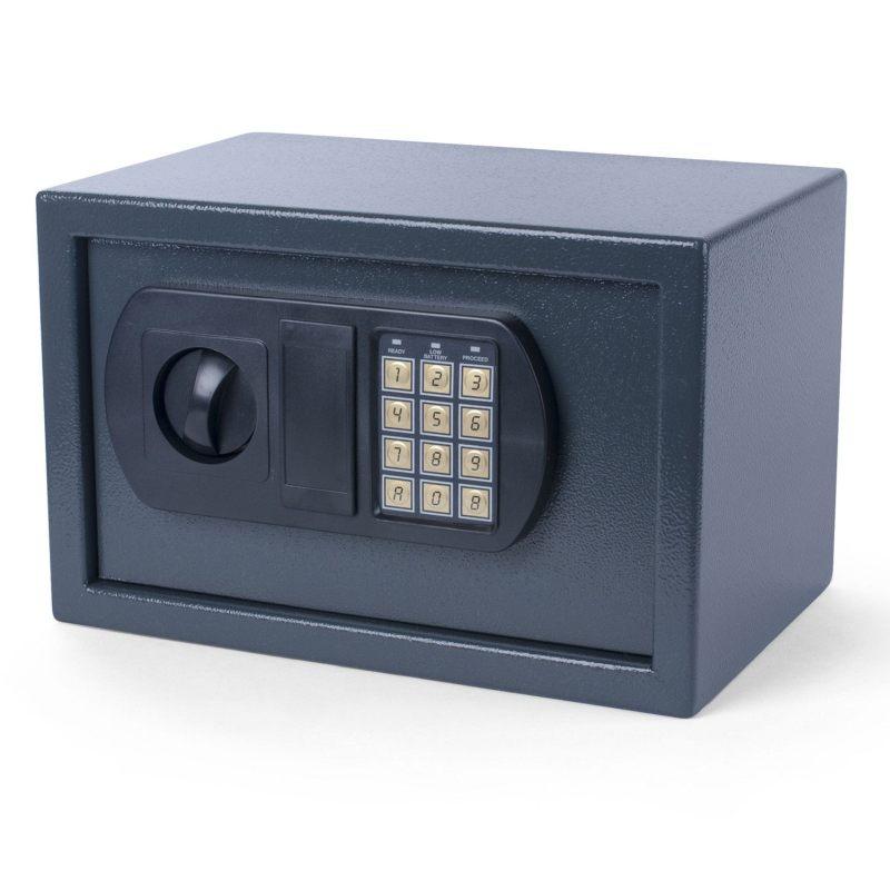tresor safe 43x36x31cm mit elektronischem zahlenschlo f r tisch wandmontage. Black Bedroom Furniture Sets. Home Design Ideas