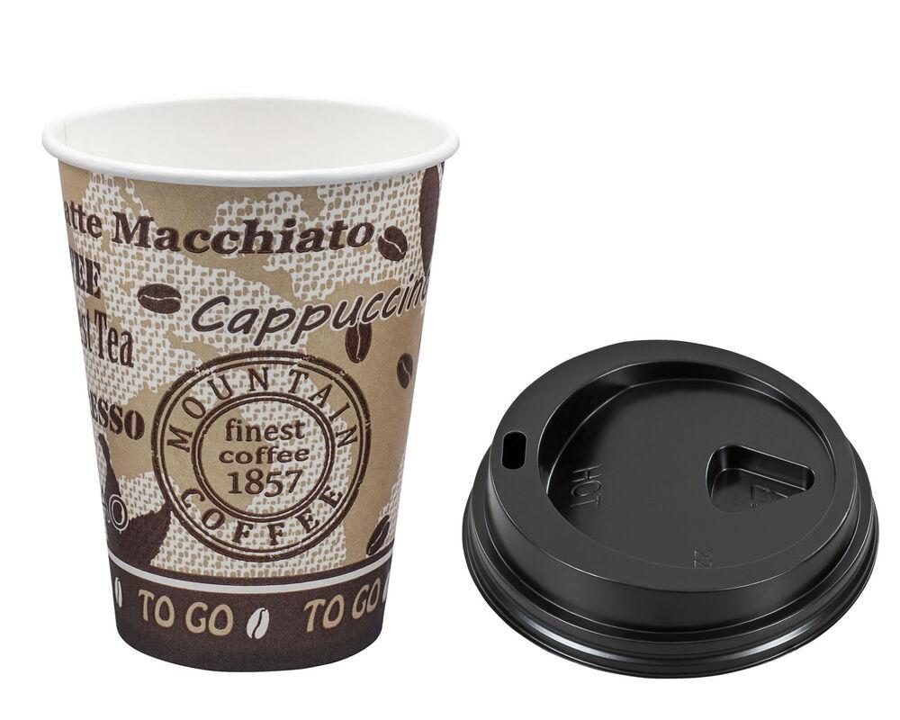 kaffeebecher premium mit deckel coffee to go pappe. Black Bedroom Furniture Sets. Home Design Ideas