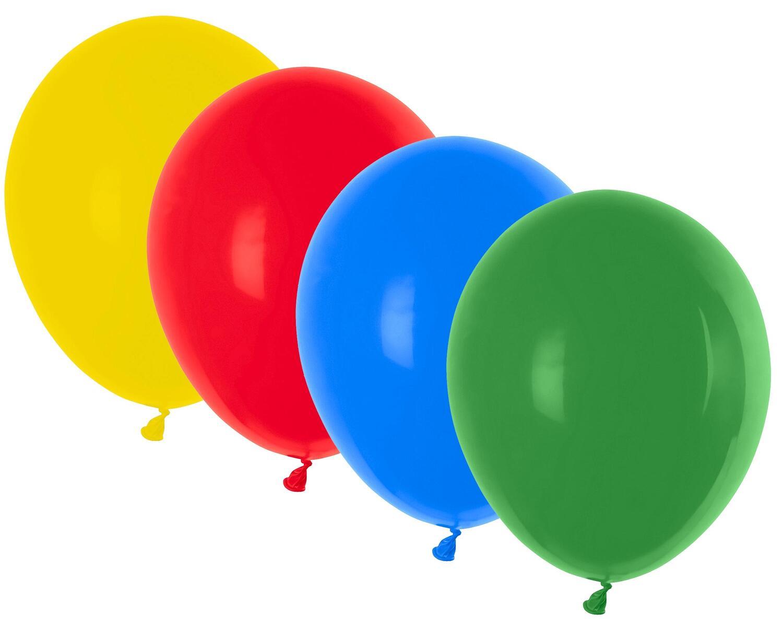 Luftballons bunt gemischt Ø 300 mm, Größe L,  10 Stk.