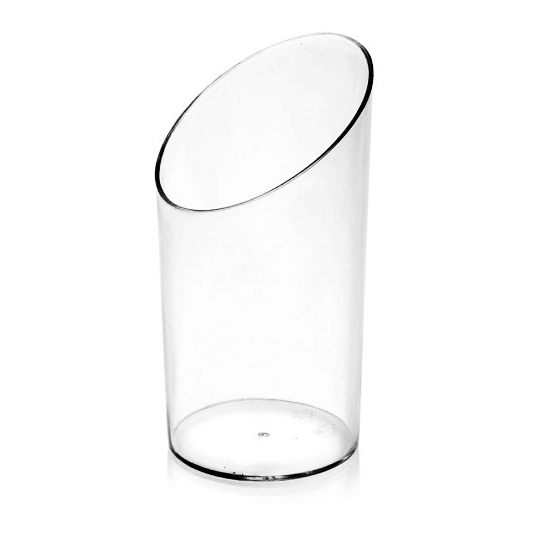 Fingerfood-Becher rund klar 65 ml PS Ø 4,5 x 8,4 cm, 20 Stk.