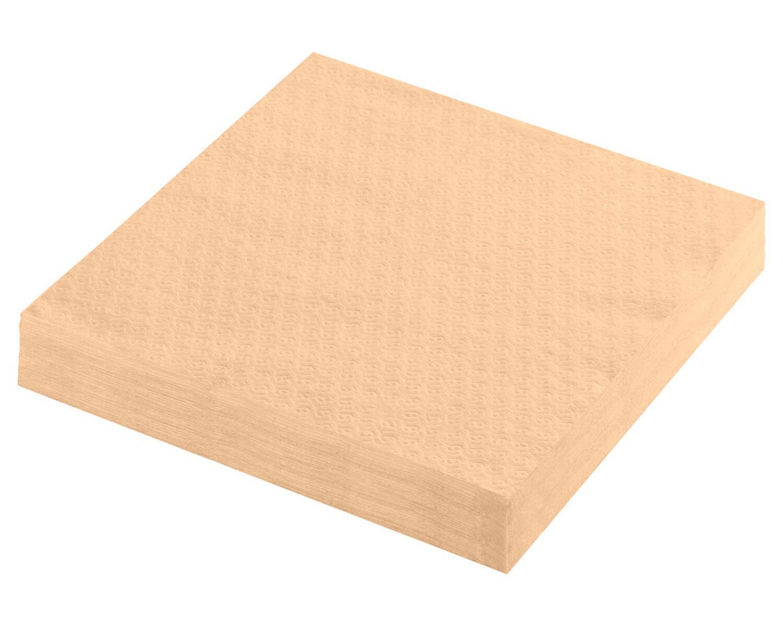 Servietten Prägeservietten 1-lagig, 33 x 33 cm, apricot, 100 Stk.